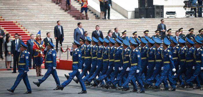 Ерөнхийлөгчид хүндэтгэл үзүүлэх цэргийн ёслолын жагсаалд Онцгой байдлын албаны бие бүрэлдэхүүн оролцов